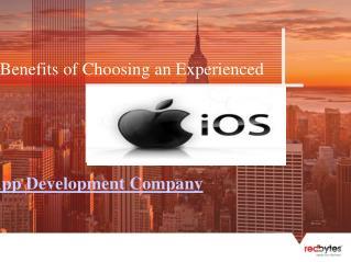Experienced iOS App Development Company Features