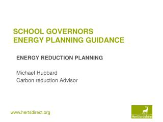 SCHOOL GOVERNORS  ENERGY PLANNING GUIDANCE