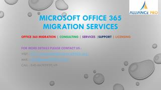 Office 365 migration consulting services India