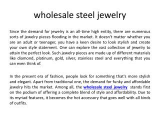 wholesale steel jewelry