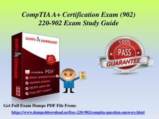 Easily Pass CompTIA All 220-902 In First Attempt - CompTIA Exam Braindumps