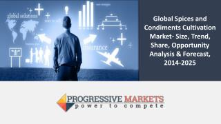 Global Spices and Condiments Cultivation Market- Size, Trend, Share, Opportunity Analysis & Forecast, 2014-2025