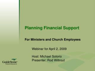 Planning Financial Support