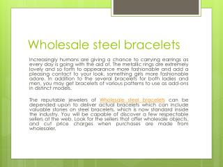 Wholesale steel bracelets