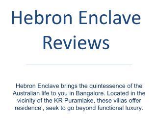 Hebron Enclave Reviews