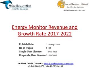 United States Energy Monitor Market Major Players Product Revenue 2017