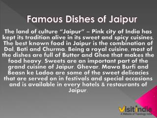 Famous Local dishes of Jaipur