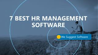 7 Best Cloud HR and HCM management software for small business