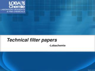 Buy Technical filter papers online-  Lobachemie