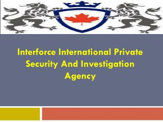 Take Registered Security Guard License In Ontario