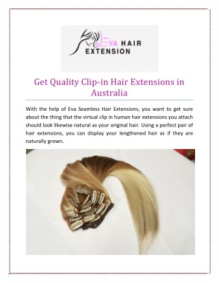 Get Quality Clip-in Hair Extensions in Australia