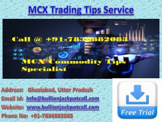 Commodity Tips Free Trial - MCX Trading Tips Service with Affordable Price