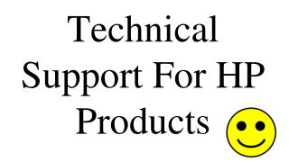 Technical Support For HP Products