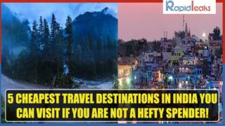 5 Cheapest Travel Destinations In India You Can Visit If You Are Not A Hefty Spender!