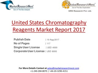 2017 to 2022 United States Chromatography Reagents Sales Market Research Analysis Report