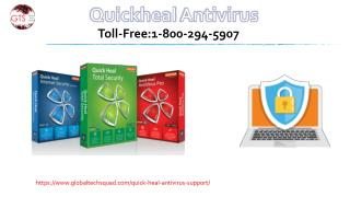 Quick heal antivirus support Toll-Free:1-800-294-5907