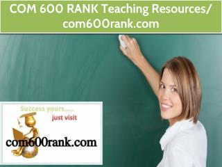 COM 600 RANK Teaching Resources / com600rank.com