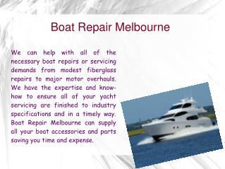 Boat Repair Melbourne