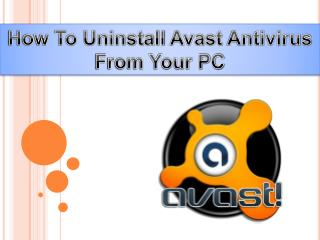 How To Uninstall Avast Antivirus From Your PC