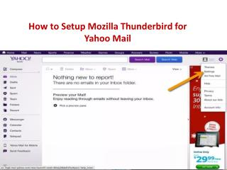 How to Set Up Yahoo Mail in Thunderbird