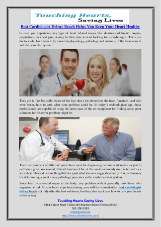 Best Cardiologist Delray Beach Helps You Keep Your Heart Healthy