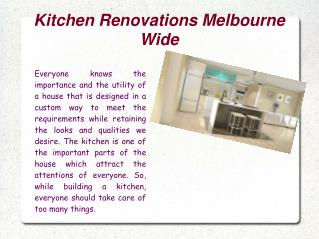 Kitchen Renovations Melbourne Wide