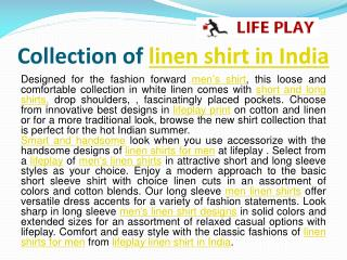 LINEN SHIRT IN INDIA