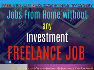 Freelance jobs from home without investment