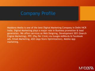 Maddova - Top Digital Marketing Agency Delhi India
