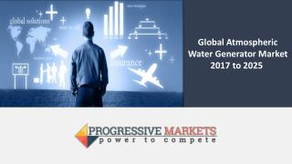Global Atmospheric Water Generator Market is expected to grow at a CAGR of 19.5% from 2017 to 2025