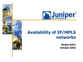 Availability of IP/MPLS networks