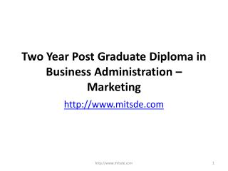 Two Year Distance PG Diploma Course in Marketing Management | online MBA | Correspondence MBA Courses