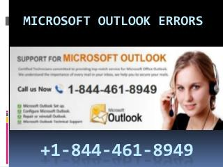 Microsoft outlook error support  1 844-461-8949, outlook customer service