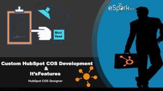 Custom HubSpot COS Development | HubSpot COS Designer | eSparkBiz