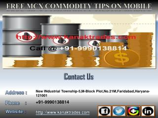 Free MCX Commodity Tips on Mobile, Crude Oil Positional Tips