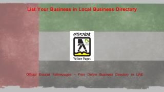 Why is it Important To List Your Business in Local Business Directory in UAE?