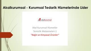 Akalkurumsal - Kurumsal Tedarik Hizmelerinde Lider