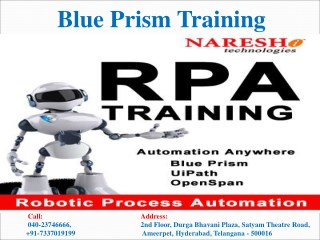 Blue Prism Training Best Blue Prism Training Institute in  Hyderabad