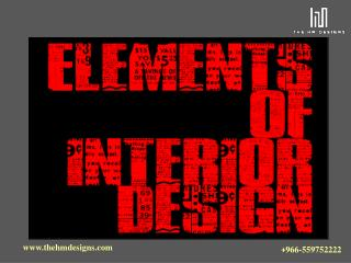 Elements Of Interior Design Kuwait