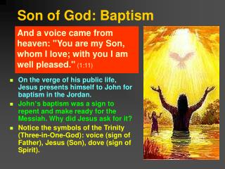 Son of God: Baptism