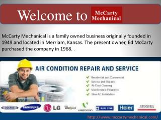 welcome to mccarty mechanical