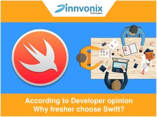 According to Developer opinion why fresher choose Swift?