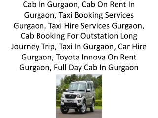 Gurgaon Cab Service, Outstation Cab Gurgaon, Book Cab Gurgaon