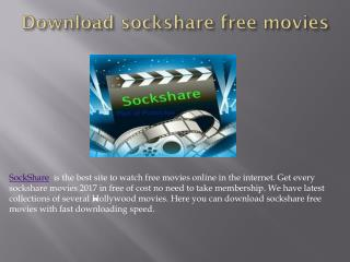 Download sockshare free movies