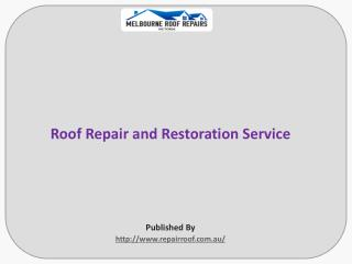 Roof Repair and Restoration Service