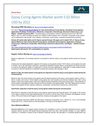 Epoxy Curing Agents Market worth 5.02 Billion USD by 2022