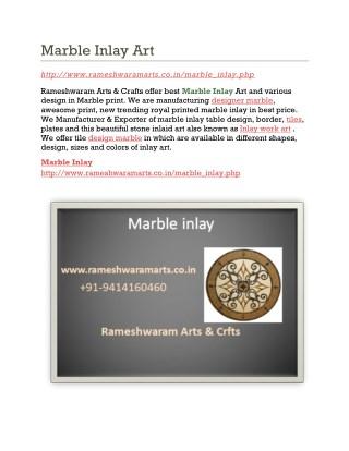 Marble Inlay Art