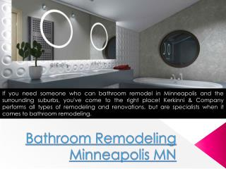 Remodeling bathroom Minneapolis