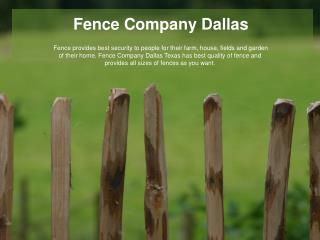 Dallas Fence | Chain Link Fence | Gates Dallas | Pool Fence Dallas