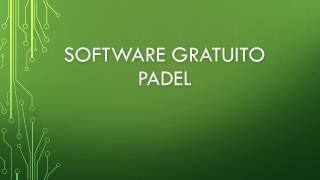 Software Gratuito Padel